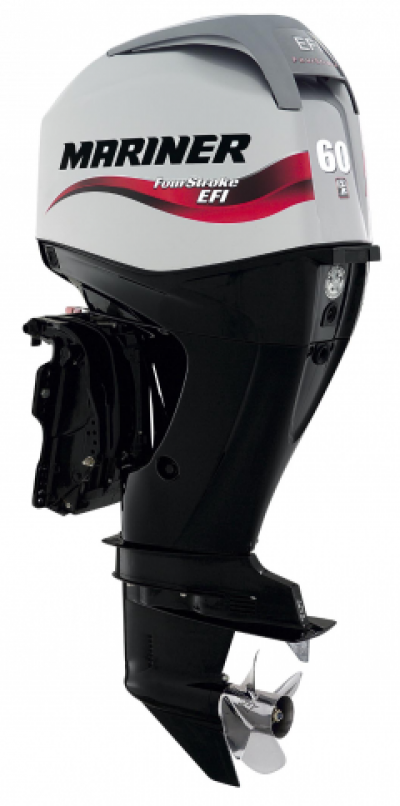 60HP Mariner F60ELPT Long Shaft Electric Start Power Trim EFi 4 Stroke Remote Control Outboard Motor image